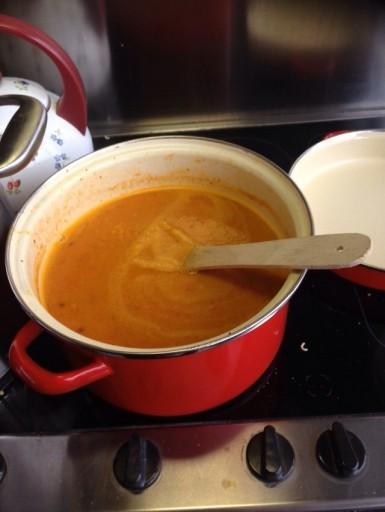 Zoete aardappel paprikasoep